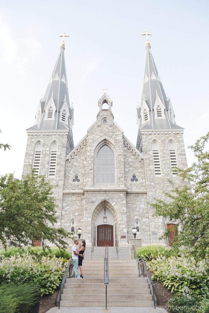 Stylish Villanova University engagement photos by Treasure Coast Wedding Photographer Nassimbeni Photography
