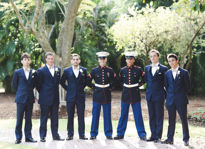 Marine wedding at the Heathcote Botanical Gardens in Fort Pierce by Treasure Coast wedding photographer Nassimbeni Photography