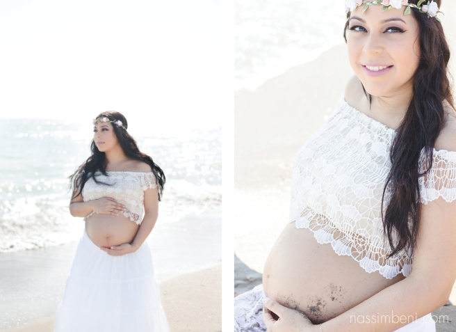 Beach maternity session in Fort Pierce by Treasure Coast Photographer, Nassimbeni Photography
