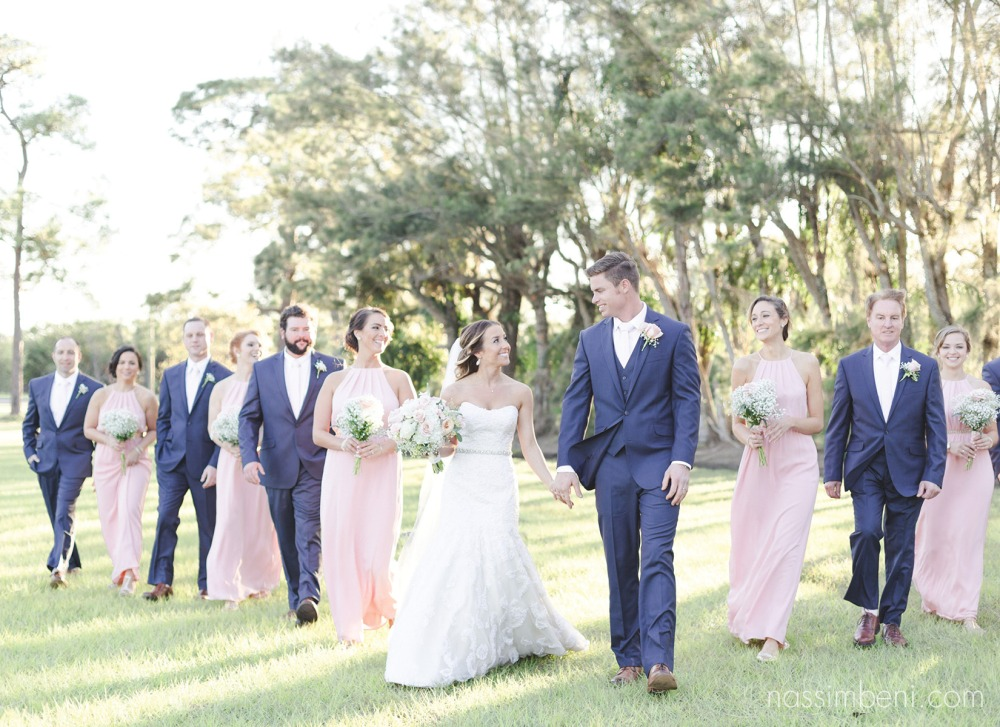 bridal party at Bellewood Plantation in Vero Beach Florida by Nassimbeni Photography