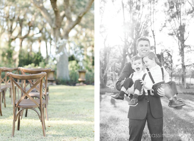 groom and ring bearers at Bellewood Plantation in Vero Beach Florida by Nassimbeni Photography