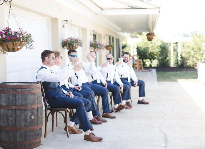 groomsmen relax before ceremony at Bellewood Plantation in Vero Beach Florida by Nassimbeni Photography