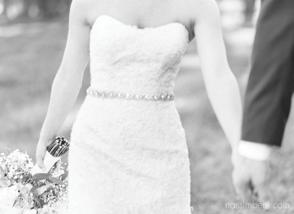 elegant sweetheart strapless with diamond belt at Bellewood Plantation in Vero Beach Florida by Nassimbeni Photography