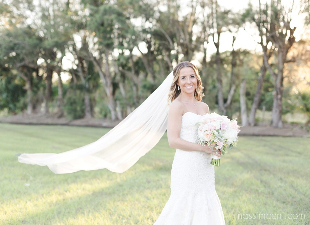 bride at Bellewood Plantation in Vero Beach Florida by Nassimbeni Photography
