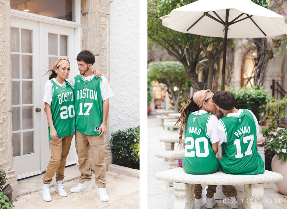 custom boston jerseys for worth avenue engagement session by nassimbeni photography
