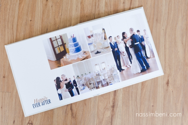 last page of Cassidy and Bryce heirloom album for Old city hall in Ft Pierce wedding by Nassimbeni Photography