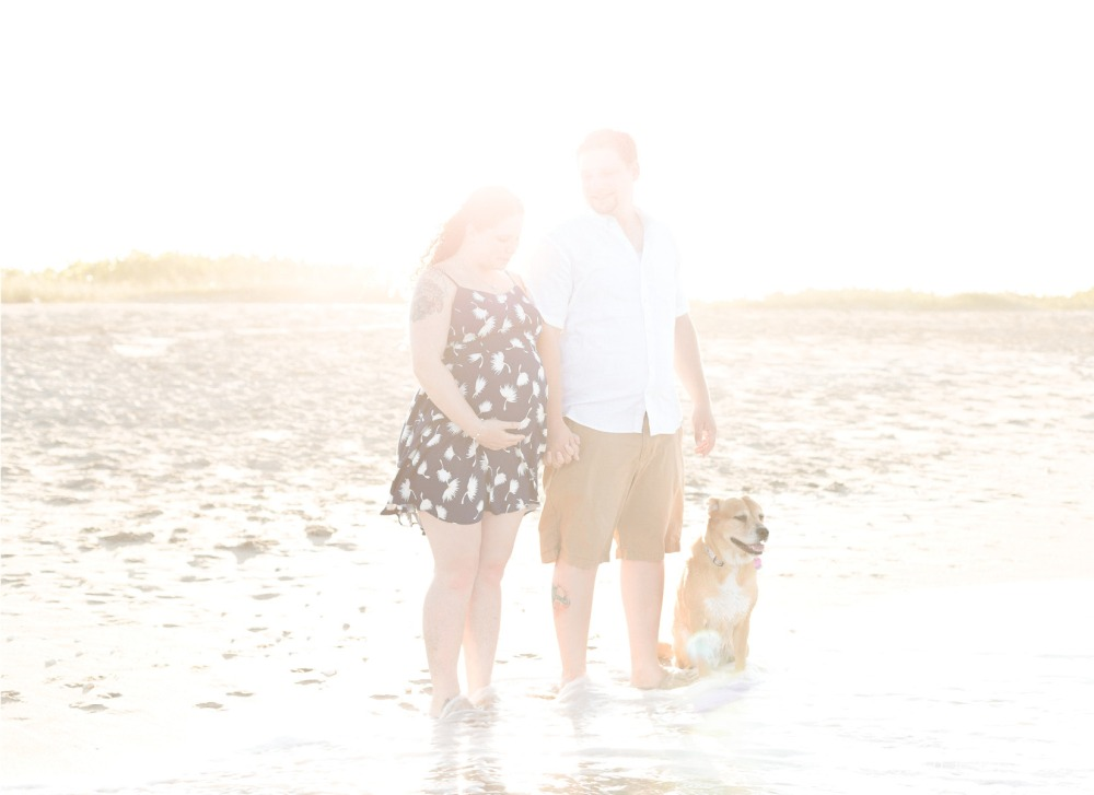 sunset on floridas east coast for maternity session by nassimbeni photography