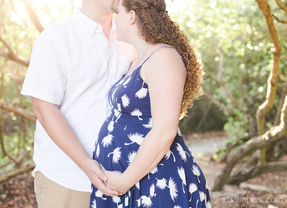 sunset hour maternity session by nassimbeni photography in stuart florida bob graham beach