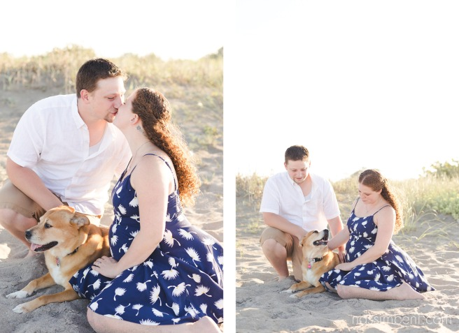 growing little family at the beach for maternity session by nassimbeni photography