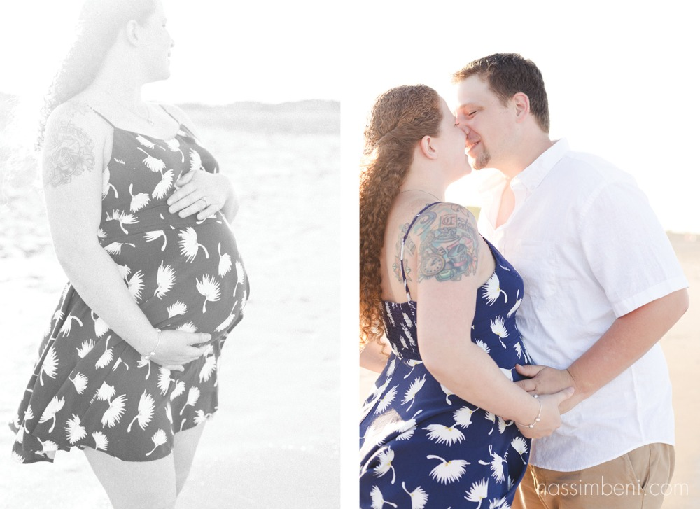 beach sunset maternity photos by nassimbeni photography of stuart florida