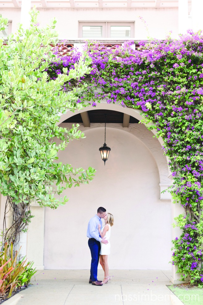 elegant and classic engagement session on worth avenue in Palm beach, Florida by Nassimbeni Photography