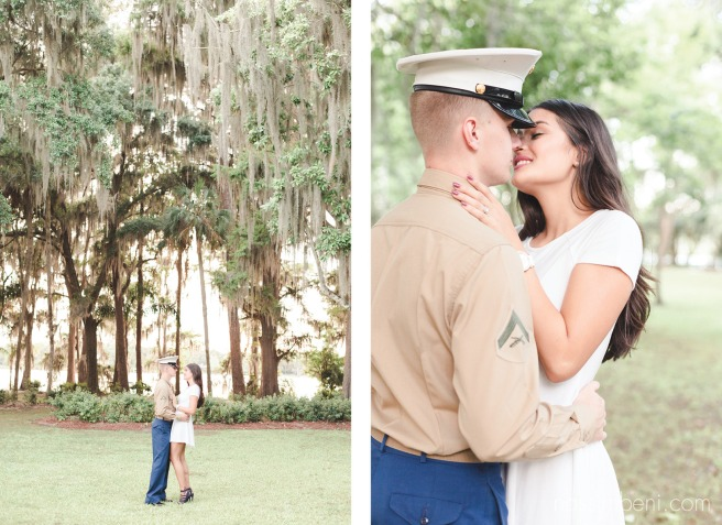 marine engagement at the kraft azalea gardens in winter park florida by nassimbeni photography
