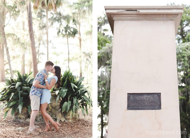 kraft azalea garden at winter park by nassimbeni photography engagement photos