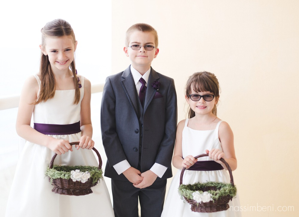 flower girls and ring bearer at the marriot courtyard in jensen beach florida by Nassimbeni Photography