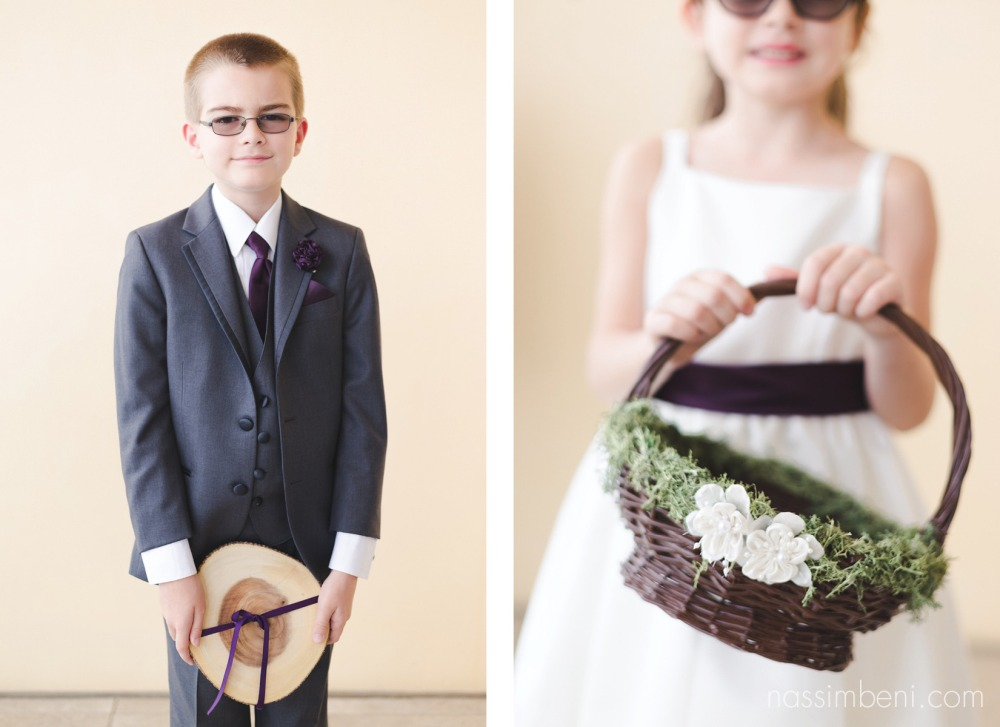 rustic ring bearer and flower girl basket by Nassimbeni Photography