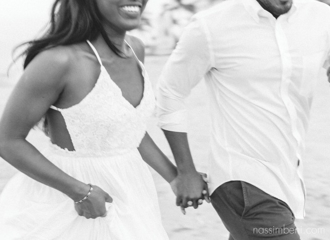 black and white engagement photo by nassimbeni photography
