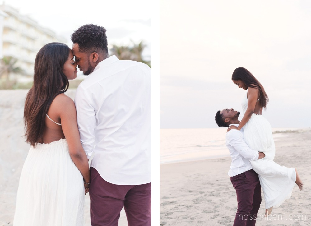 sweet beach engagement by nassimbeni photography in worth avenue palm beach