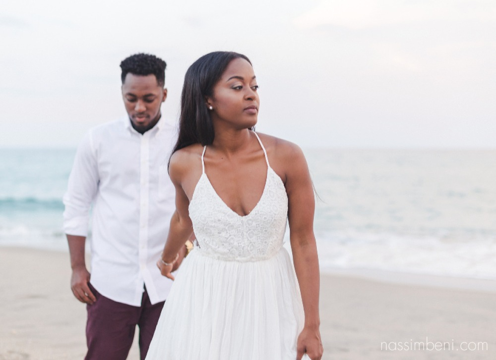beach engagement session by nassimbeni photography near worth avenue
