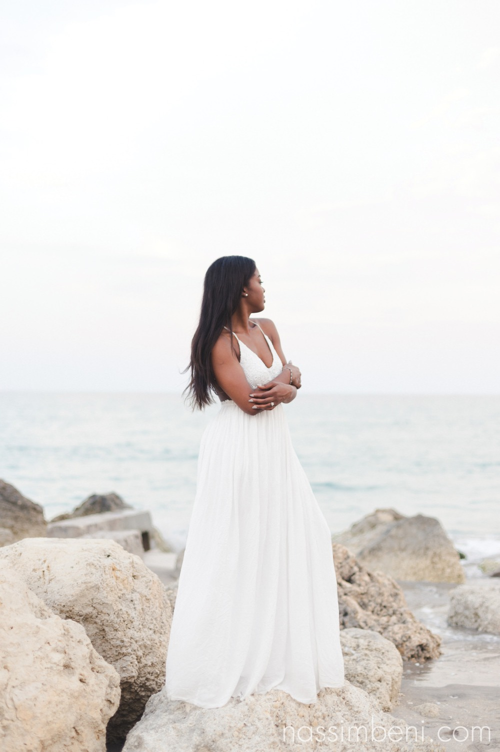elegant soon to be bride by the beach near worth avenue by nassimbeni photography