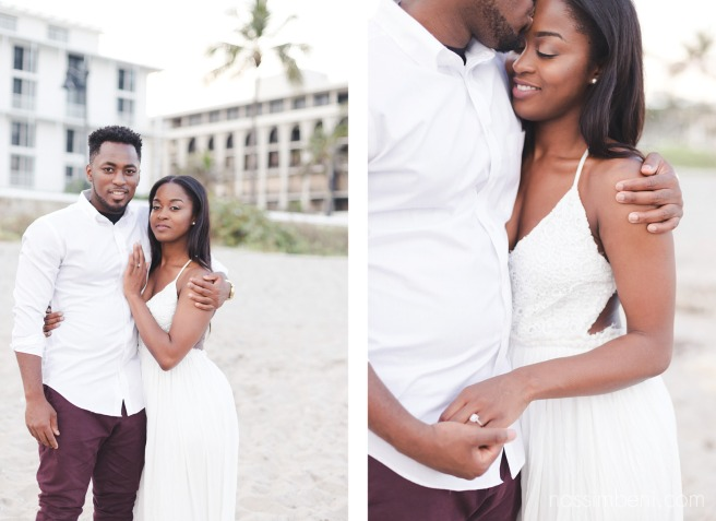 sweet beach engagement photos by by nassimbeni photography near worth avenue