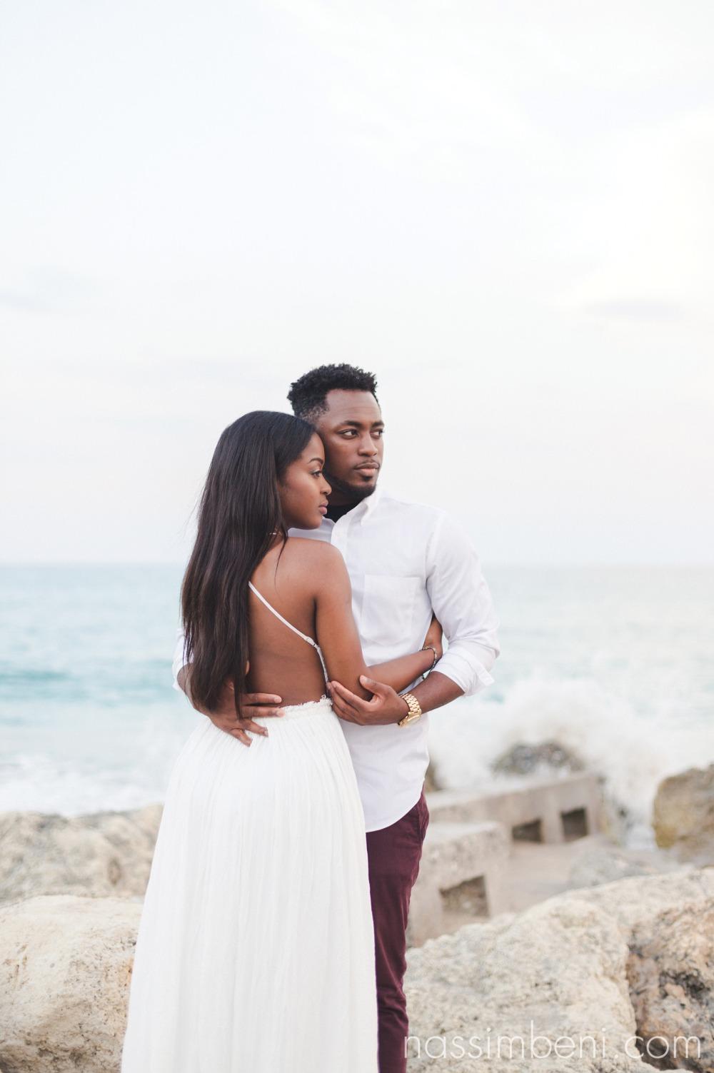 sweet embrace near worth avenue engagement session by nassimbeni photography