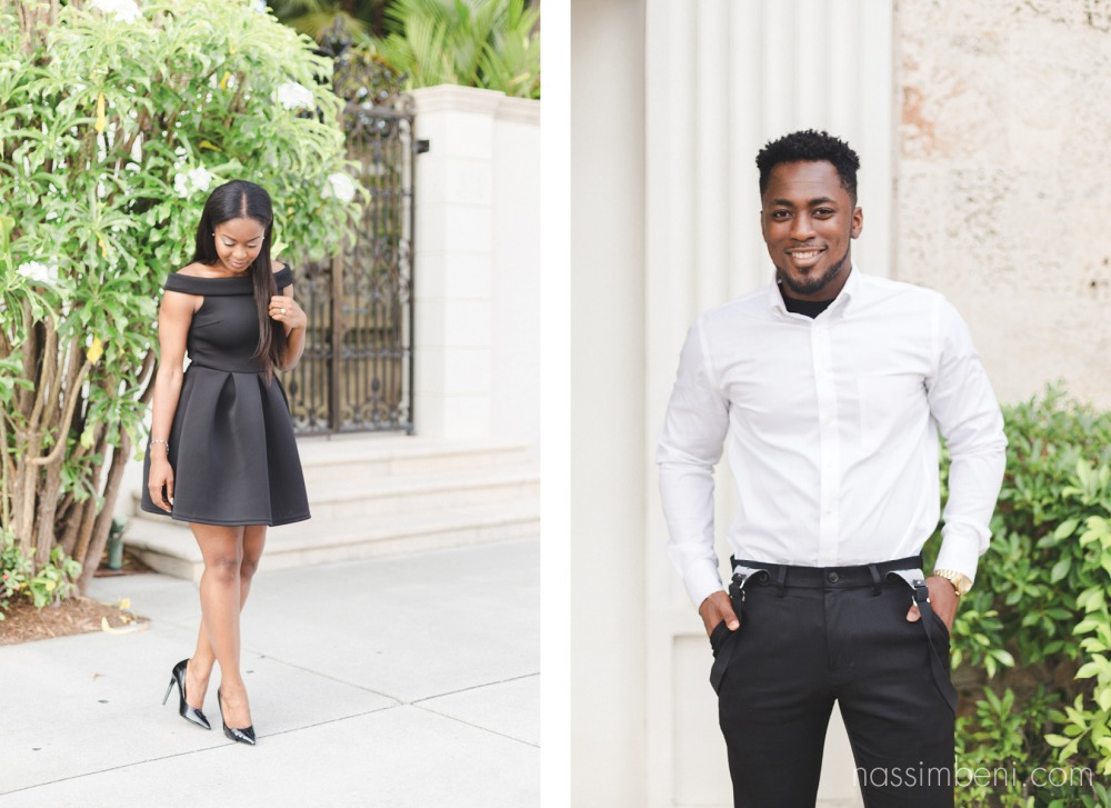 a couple with class | worth avenue engagement photos by nassimbeni photography