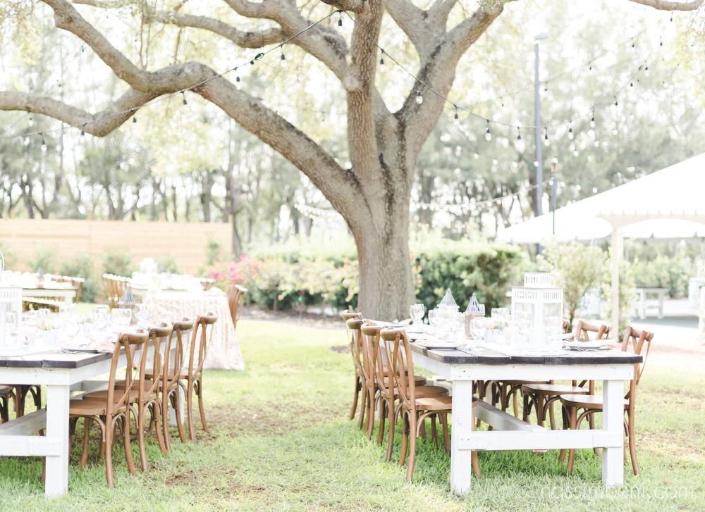 bellewood plantation reception set up in the backyard by nassimbeni photography