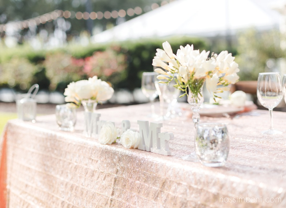 mr and Mrs table at bellewood plantation reception by nassimbeni photography