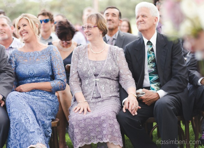 family reactions during wedding ceremony by nassimbeni photography