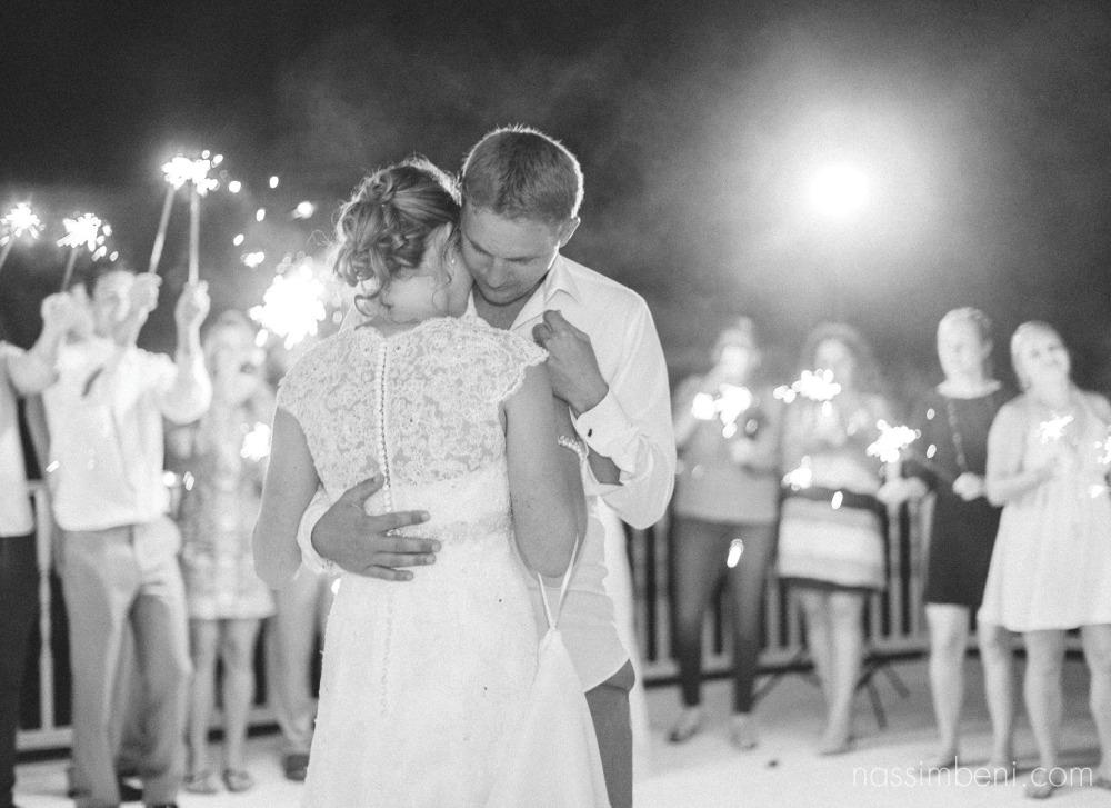 sparkler last dance at bellewood plantation wedding by nassimbeni photography