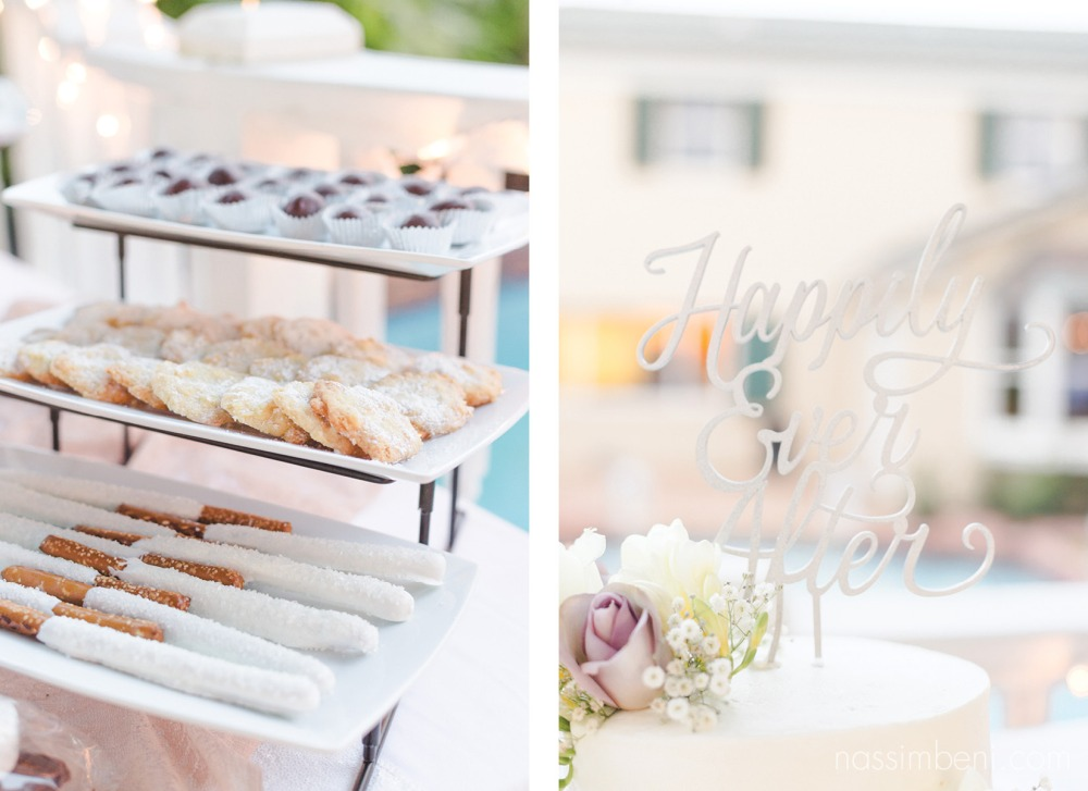 dessert table and cake topper