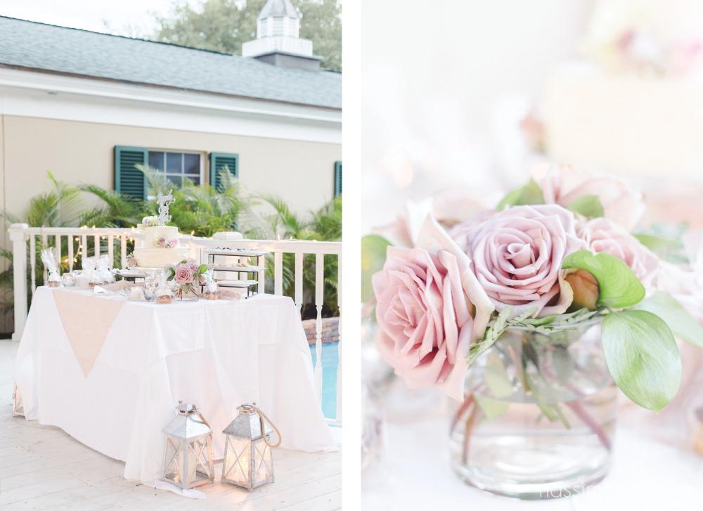 sweets table at bellewood plantation wedding v