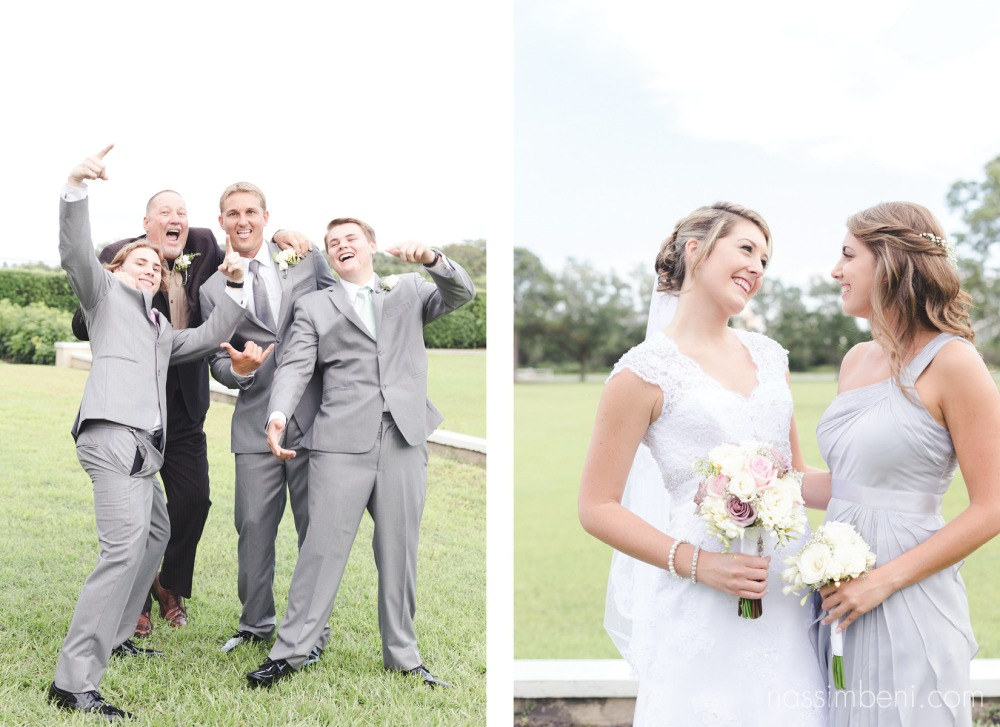 dad and his boys and bride with maid of honor at bellwood wedding by nassimbeni photography