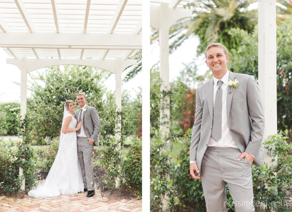 groom and bride at bellewood plantations garden ceremony spot by nassimbeni photography