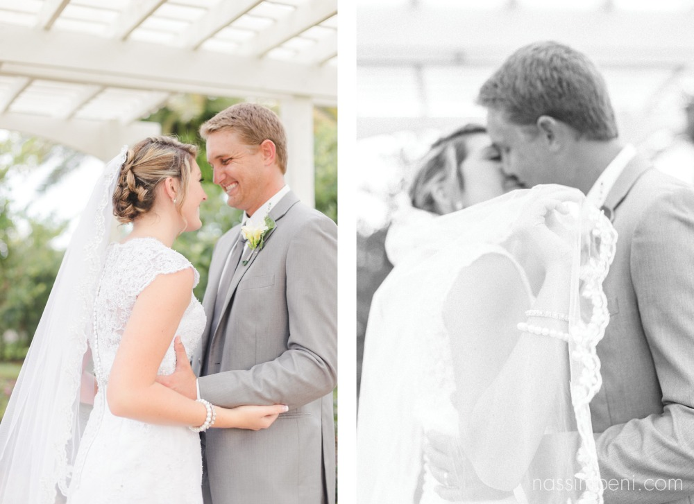bride and groom together before reception by nassimbeni photography at bellewood plantation wedding