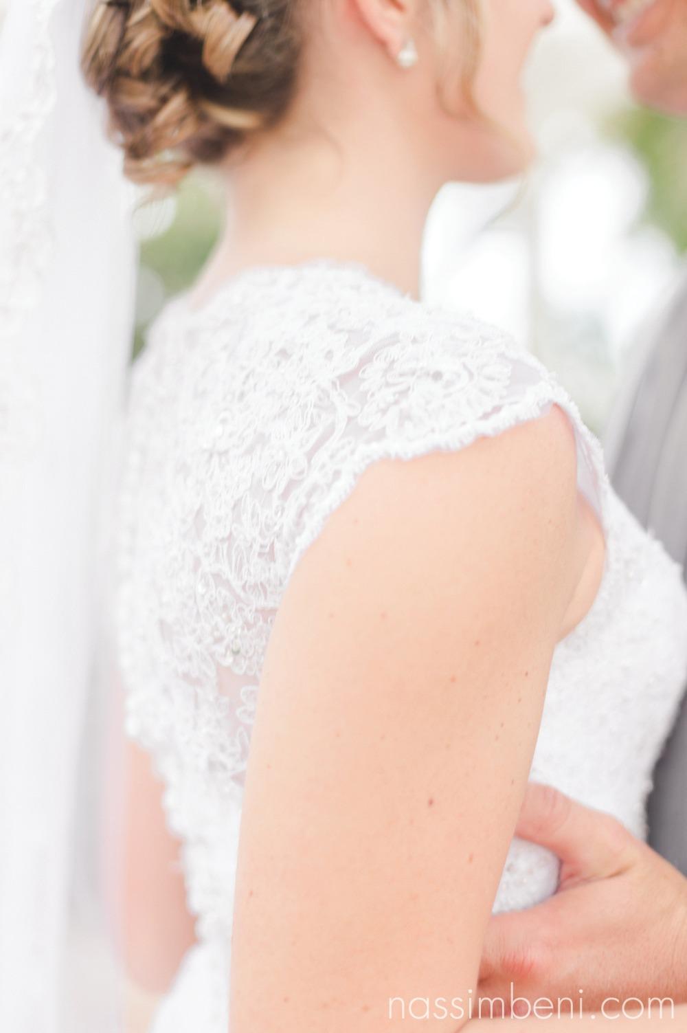 brides wedding dress detail by nassimbeni photography at bellewood plantation wedding
