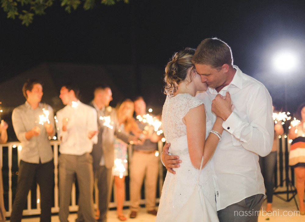 sparkler last dance bride and groom vero beach wedding by nassimbeni photography