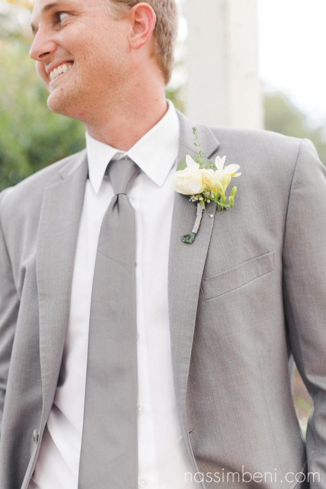 gray grooms suit by nassimbeni photography