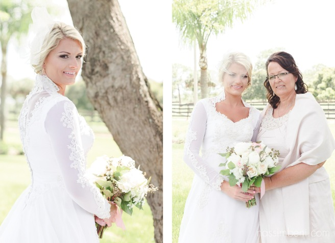 bride and mother with her vintage wedding dress by nassimbeni photography