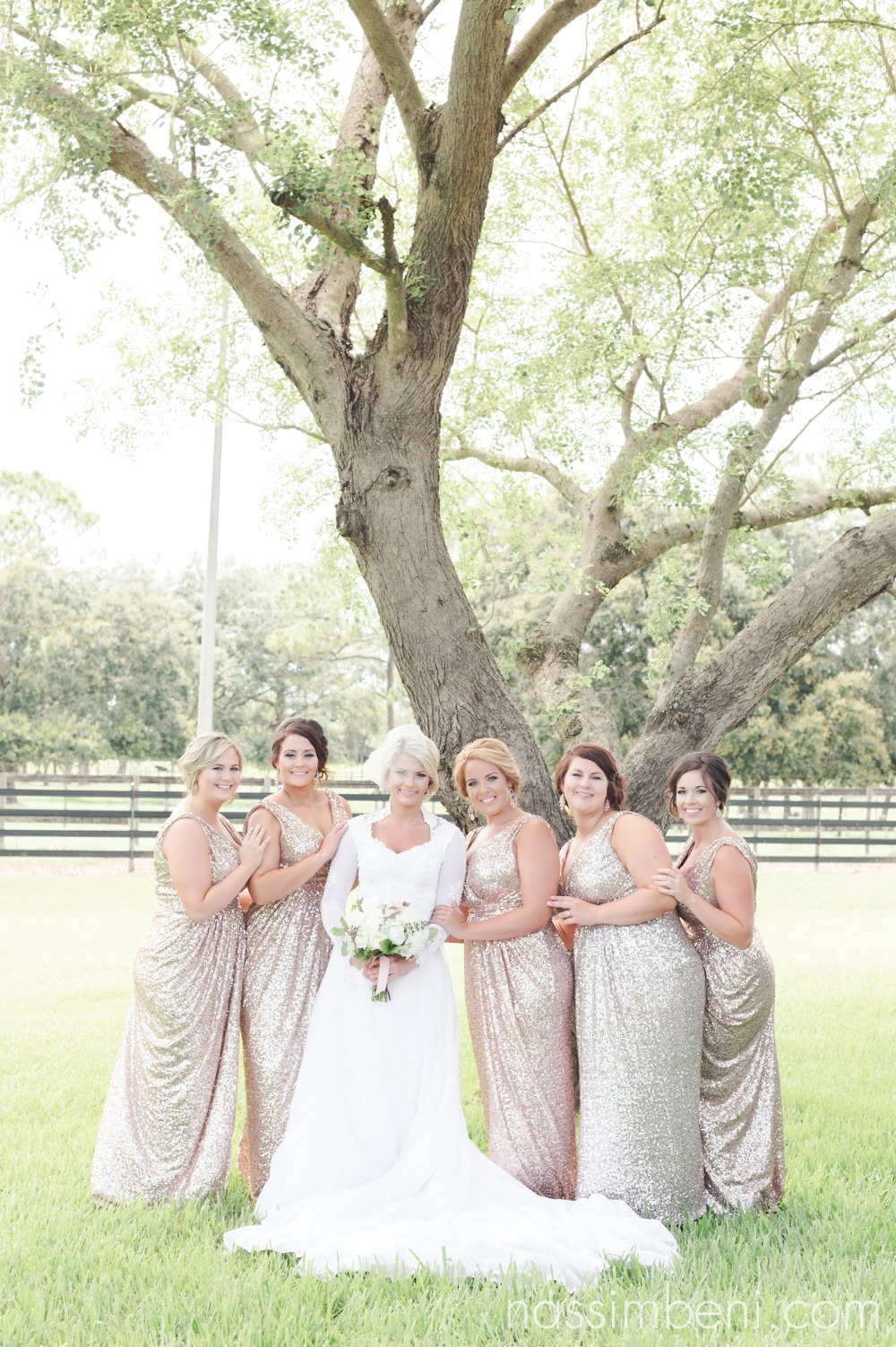vintage bride and modern bridesmaids by nassimbeni photography