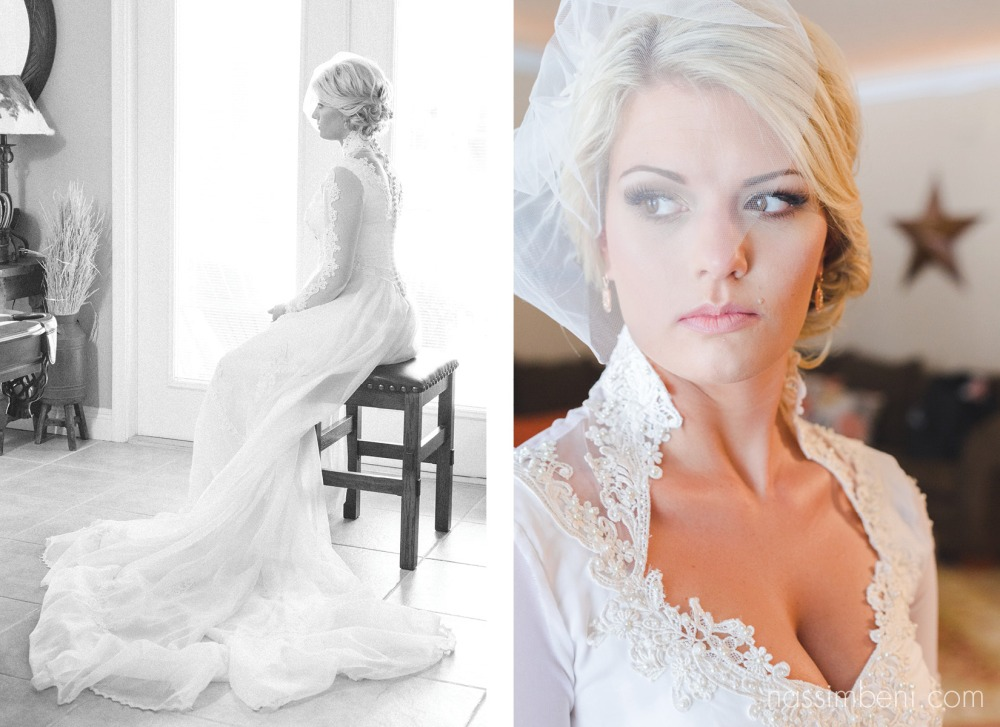 long elegant vintage wedding gown worn by bride that was once her mothers wedding dress by nassimbeni photography
