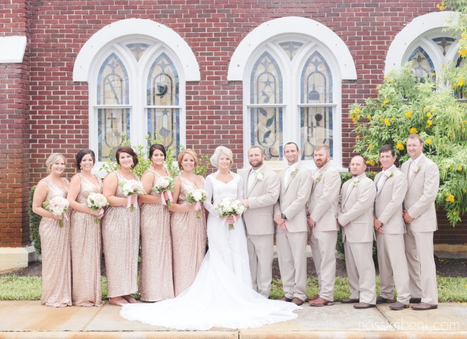 bridal party at first united methodist church in okeechobee florida by nassimbeni photography