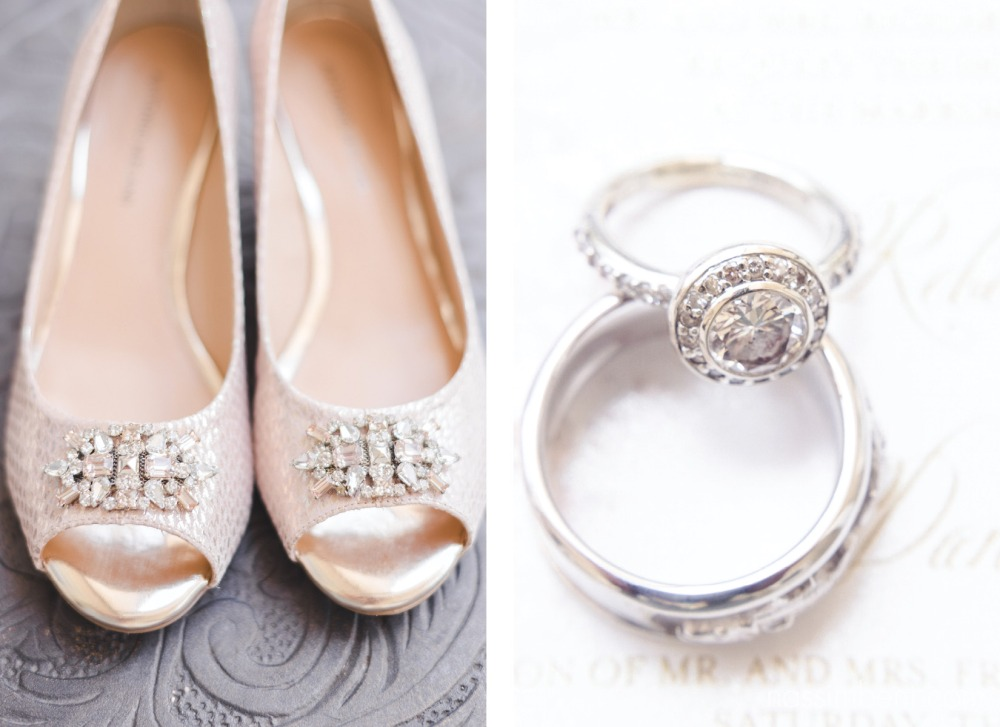 pink wedding shoes for bride and round engagement ring by nassimbeni photography