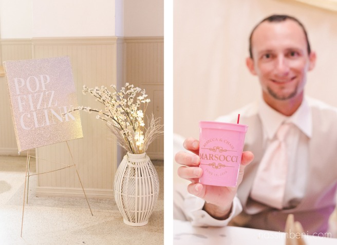 custom wedding cups for guests at the okeechobee koi convention center by nassimbeni photography