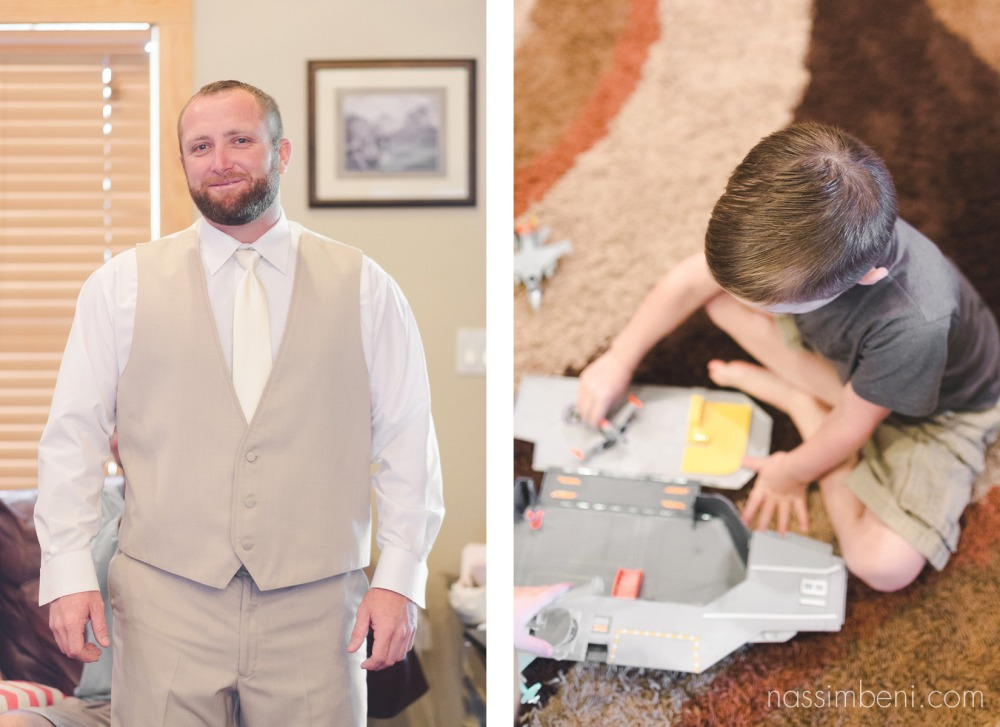 groom and best little man near by getting ready for the wedding by nassimbeni photography