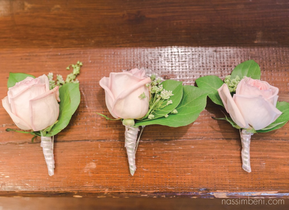 pink rose boutonnieres by nassimbeni photography