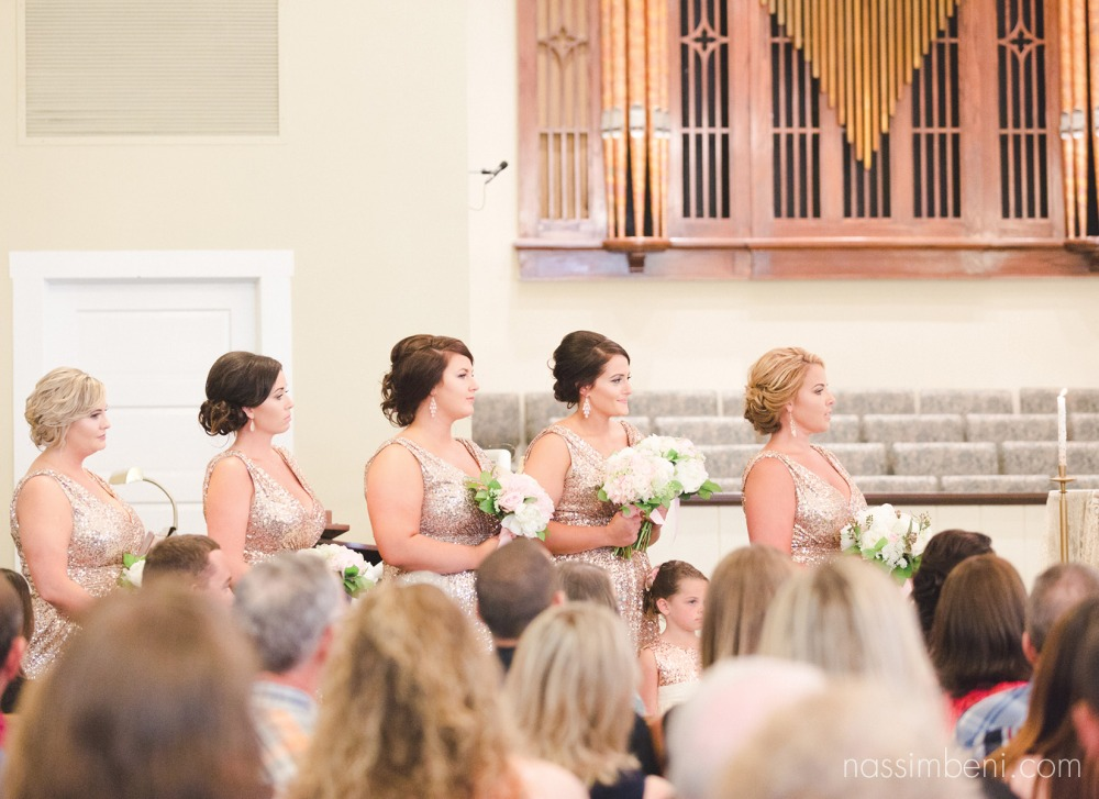 bridesmaids position at first united methodist church wedding in okeechobee florida by nassimbeni photography