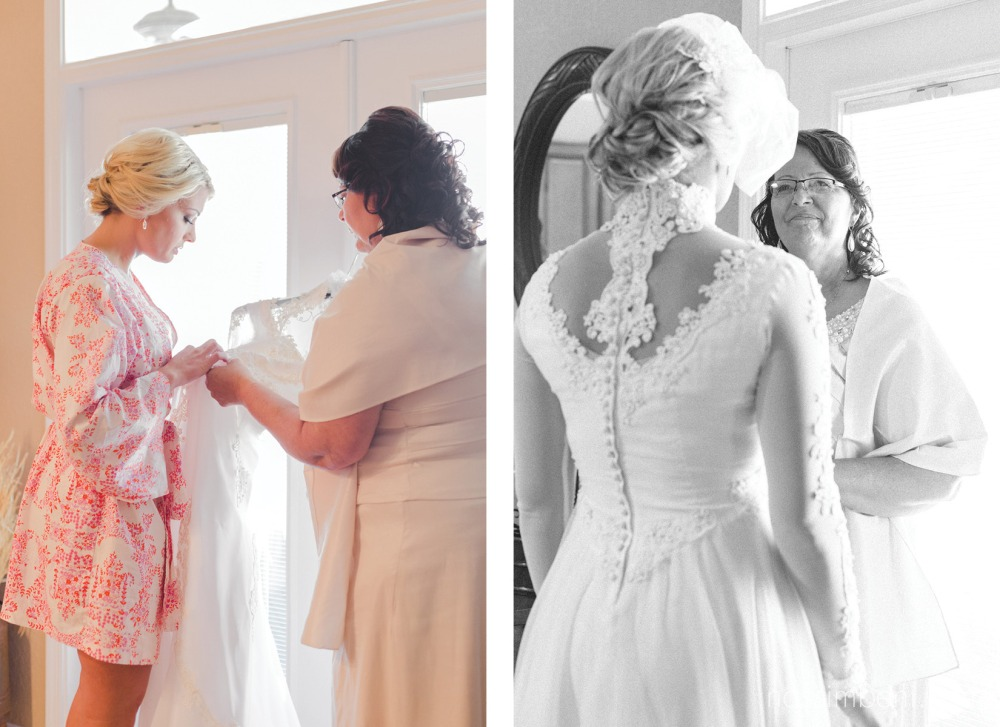 mother sees bride in what was once her wedding gown by nassimbeni photography