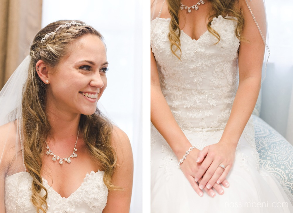 bride at first baptist church of melbourne by nassimbeni photography