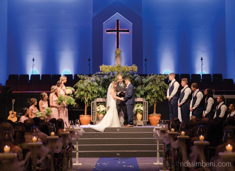extravagant wedding ceremony at first baptist church of melbourne florida by nassimbeni photography